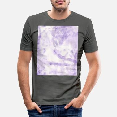 Lilac Lilac Swirl - Men's Slim Fit T-Shirt