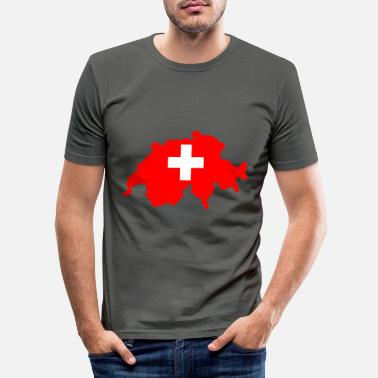 Switzerland Switzerland - Switzerland - Men's Slim Fit T-Shirt
