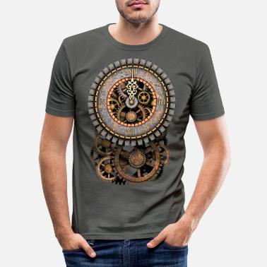 Steampunk Steampunk Clock and Gears T-Shirts - Mannen slim fit T-shirt
