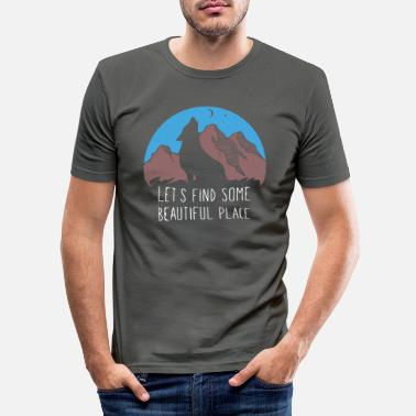 Wolf Travel Travel Beautiful Place - Men's Slim Fit T-Shirt