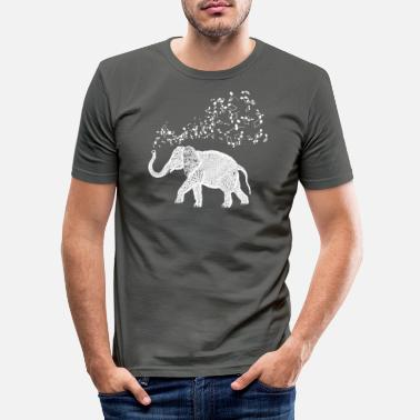 Student Elephant Music Notes for Animal and Music Lovers - Men's Slim Fit T-Shirt