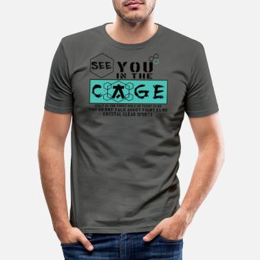 Cage Fight Cage Fighter - Männer Slim Fit T-Shirt