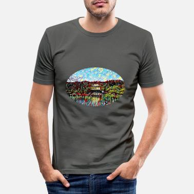 Pavilion Golden Pavilion i Kyoto, Japan - Slim fit T-skjorte for menn
