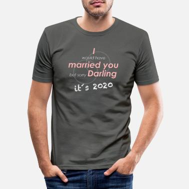 Corona No wedding in 2020 - Men's Slim Fit T-Shirt