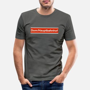 Cologne Dom Hauptbahnhof tram stop - Men's Slim Fit T-Shirt