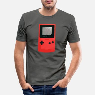 Spelconsole Spelconsole in het rood - Mannen slim fit T-shirt