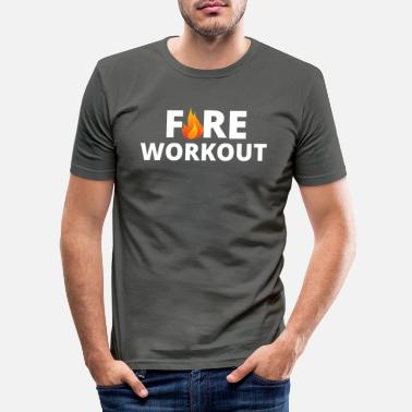 Fire Workout - Men's Slim Fit T-Shirt