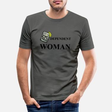 Independent GINdependent Woman (Independent Women Pun) - Miesten slim fit t-paita