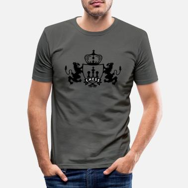 Shield Chess Shield - Männer Slim Fit T-Shirt