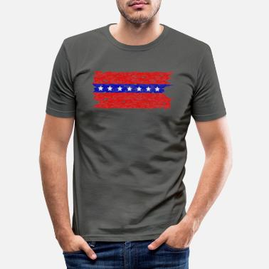 Southern stars and stripes - Men's Slim Fit T-Shirt
