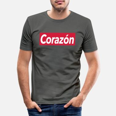 Corazon Corazon - heart - Men's Slim Fit T-Shirt