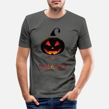 Trick Or Treat Citrouille Happy Halloween - T-shirt moulant Homme