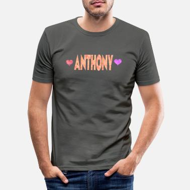 Anthony Anthony - Männer Slim Fit T-Shirt
