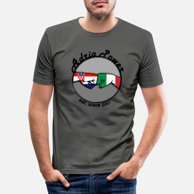 Adriana adria power - Männer Slim Fit T-Shirt