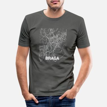 Brage Braga bykart og gater - Slim fit T-skjorte for menn