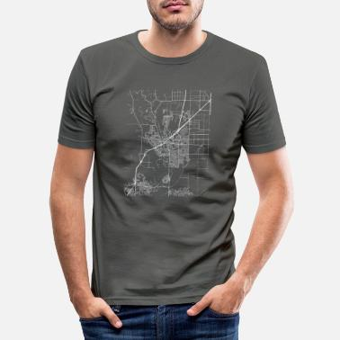 People Minimal Vacaville city map and streets - Men's Slim Fit T-Shirt