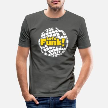 Blaxploitation Discoball - Men's Slim Fit T-Shirt