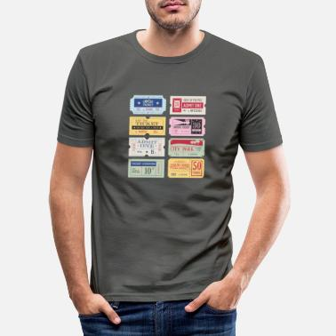 Ticket VINTAGE TICKETS - T-shirt moulant Homme