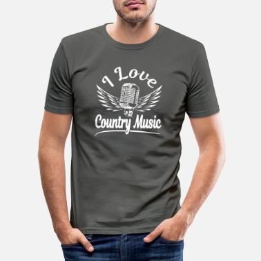 Country I love Country Music white - Men's Slim Fit T-Shirt