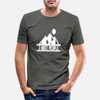 Hill Billy Natur hill berg berge wandern funny fun - Männer Slim Fit T-Shirt