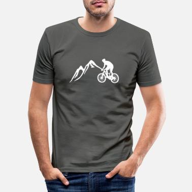 Mountain Bike mountain-bike - Men's Slim Fit T-Shirt