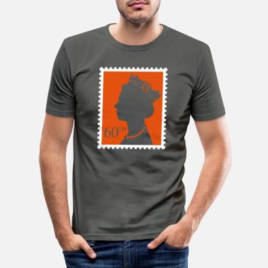 Jubilee Queen's Jubilee Stamp - Men's Slim Fit T-Shirt