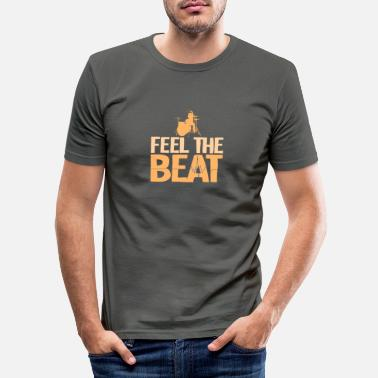 Beat Drums Drum beat gift - Men's Slim Fit T-Shirt