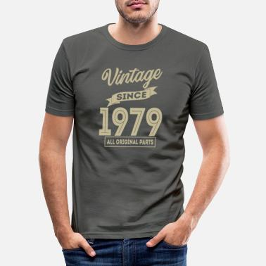 King Vintage since 1979 all original parts birthday gif - Men's Slim Fit T-Shirt
