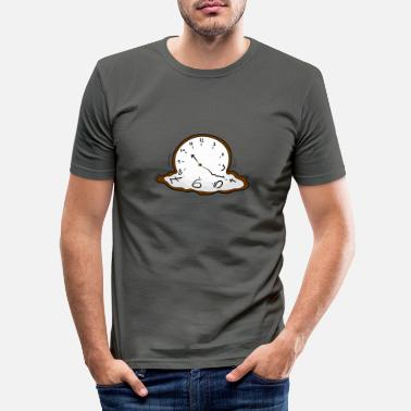Clock Melting clock - Männer Slim Fit T-Shirt