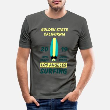 Golden State Golden State Surfing - T-shirt moulant Homme