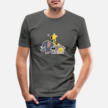 Groupe d'animaux - T-shirt moulant Homme