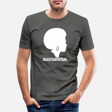 Blaxploitation blaxploitation wite - Men's Slim Fit T-Shirt