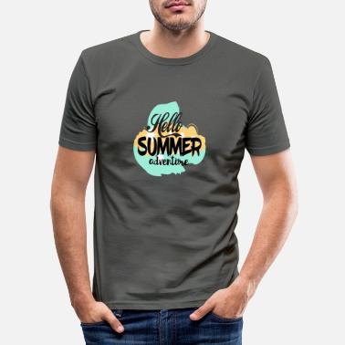 hallo zomeravontuur - Mannen slim fit T-shirt