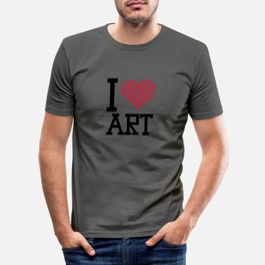 Form i love art - Men's Slim Fit T-Shirt