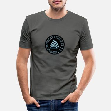 Norway viking compass wotan 02 - Men's Slim Fit T-Shirt