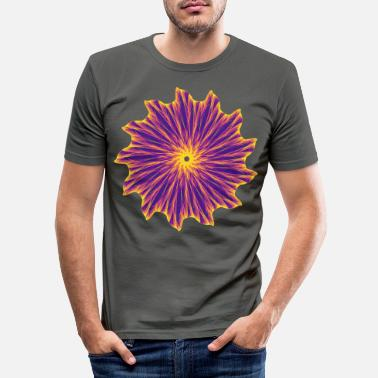 Fantasy Chakra Mandala Mantra OM Chaos Star Circle 9112pla - Men's Slim Fit T-Shirt
