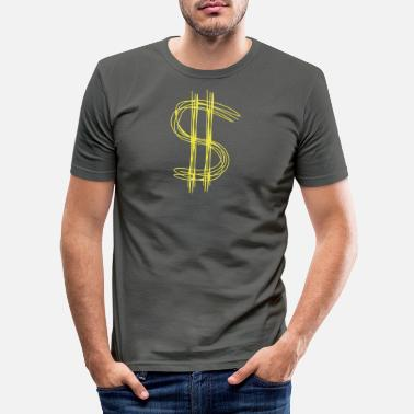 Dollar Dollar sign dollar - Men's Slim Fit T-Shirt