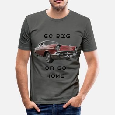 Rotes Front Chevy Bel Air Front - Männer Slim Fit T-Shirt