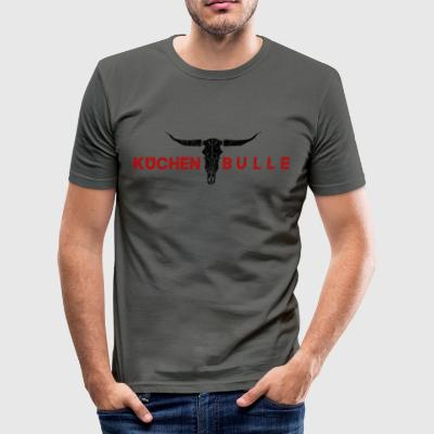 Küchenbulle rød - Slim Fit T-skjorte for menn