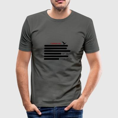 Space Atlas Slim Fit Top Secret - Men's Slim Fit T-Shirt