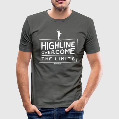 Highline - Overcome the Limits - Men's Slim Fit T-Shirt