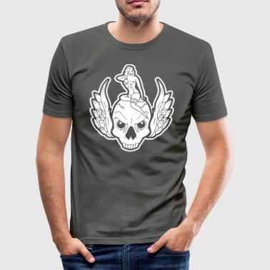 SKULL RIDER - Tee shirt près du corps Homme