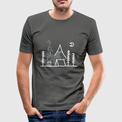 camping - Herre Slim Fit T-Shirt