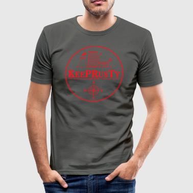 Stickers Red Transperent - Men's Slim Fit T-Shirt