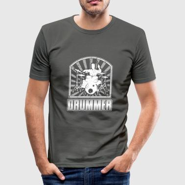 trummis - Slim Fit T-shirt herr