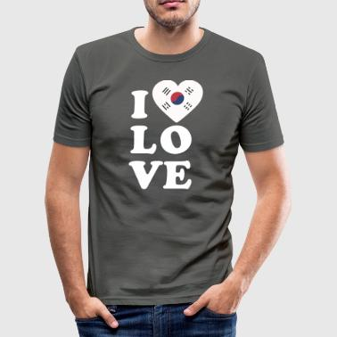 I love South Korea - Men's Slim Fit T-Shirt