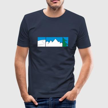 FREERIDE - Slim Fit T-shirt herr