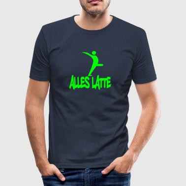 latte - Männer Slim Fit T-Shirt
