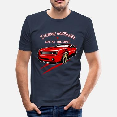 Driving School Driving instructor driving license driving school gift - Men's Slim Fit T-Shirt