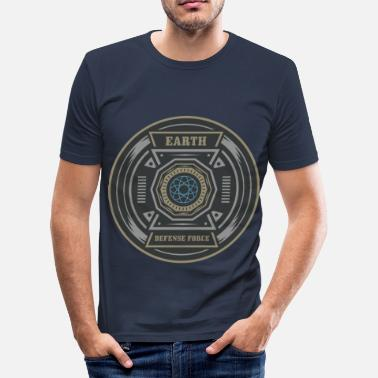 Earth Positive Regalo fresco de la camiseta de Earth Defense Mandala - Camiseta ajustada hombre